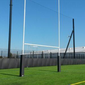 Professional Aluminium Rugby Goal – 11m High (Hinged)