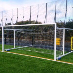 Retractable Fence Folding Soccer Goals – 4.88m  x 2.13m